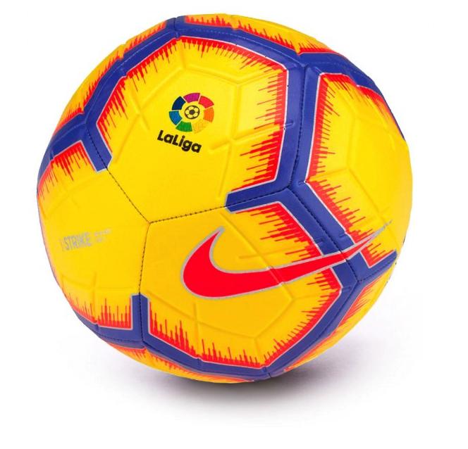 f63e5b749595c balón Nike Ll Nk Strk-fa18 balon de la liga santander amarillo